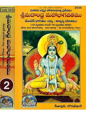 శ్రీ మదాంధమహాభాగవతము:  Srimad Andhra Bhagawat - Potanna Bhagavatam in Telugu (Set of 2 Volumes)