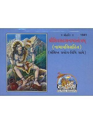 શ્રીશિવસહસ્ત્રનામસ્ત્રોત્રમ: Sri Shiva Sahasranama Stotram (Gujarati)