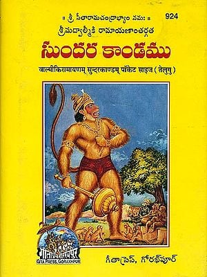 సుందరకాండము: वाल्मीकिरामायणम्  सुन्दरकाण्डम्: Sri Valmiki Ramayana Sundarkanda in Telugu (Pocket Size Edition)