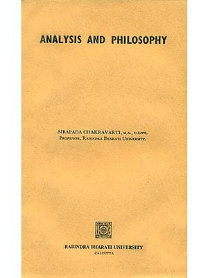 Analysis and Philosophy (An Old and Rare Book)