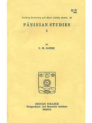Paninian Studies (An Old and Rare Book)