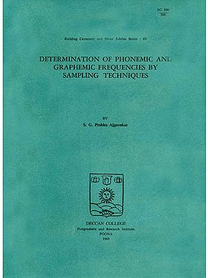 Determination of Phonemic and Graphemic Frequencies by Sampling Techniques (An Old and Rare Book)