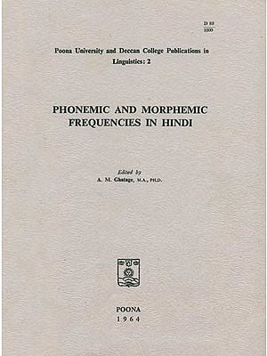 Phonemic and Morphemic Frequencies in Hindi (An Old and Rare Book)