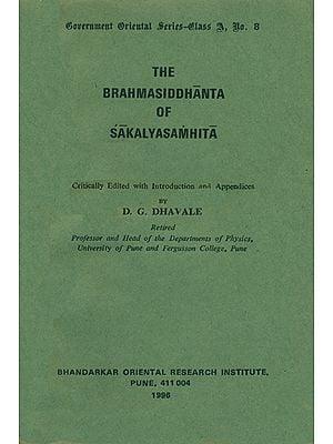 The Brahmasiddhanta of Sakalya Samhita (An Old and Rare Book)