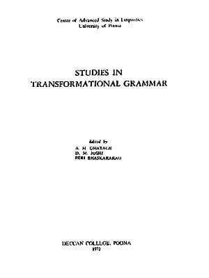 Studies in Transformational Grammar