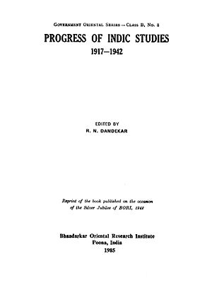 Progress of Indic Studies (1917-1942)
