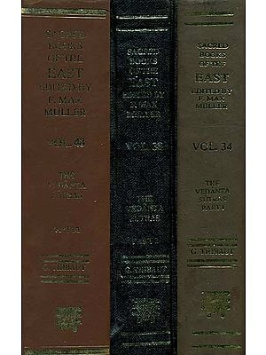 The Vedanta Sutras with The Commentaries of Sankaracarya and Ramanuja (Set of 3 Volumes)
