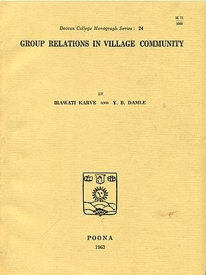 Group Relations in Village Community (An Old and Rare Book)