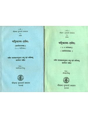 भट्टिकाव्य दर्पण: Bhattikavyam in 2 Volumes (Question and Answer)
