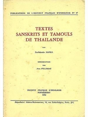 Textes Sanskrits et Tamouls de Thailande (An Old and Rare Book)