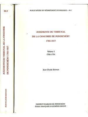 Jugements du Tribunal de la Chaudrie de Pondichéry 1766-1817 (Set of 2 Volumes)