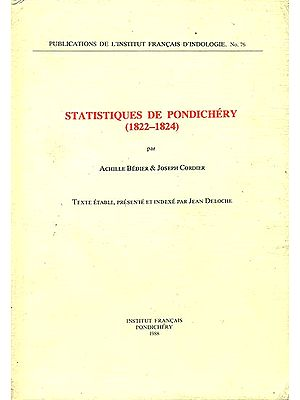 Statistiques de Pondichéry (1822-1824)
