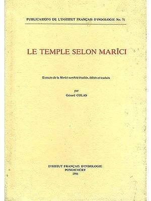 Le Temple Selon Marici (An Old and Rare Book)