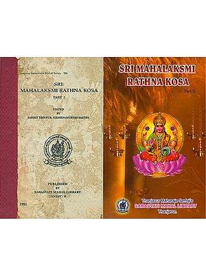 மஹாக்ஷ்மீரத்னகோசம (श्रीमहालक्ष्मीरत्नकोश) - Sri Mahalaksmi Ratna Kosa in Two Volumes (An Old and Rare Book)