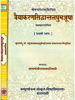 वैयाकरणसिद्धान्तलघुमञ्जूषा: Vaiyakaran Siddhanta Laghumanjusa With Three Commentaries in Two Volumes (An Old and Rare Book)