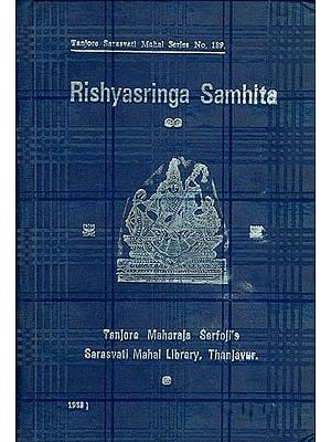 Rishyasringa Samhita - Vol. I (An Old and Rare Book)