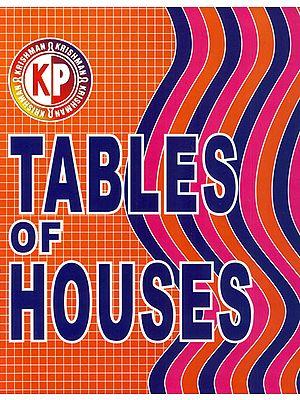 K.P. Tables of Houses: Sayana 0 Degree North to 60 Degree 0-24 Hours (Based on Krishnamurti Padhdhati)