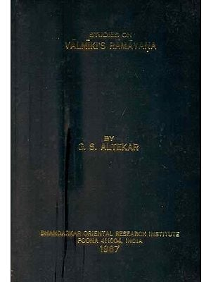 Studies on Valmiki's Ramayana (A Rare Book)