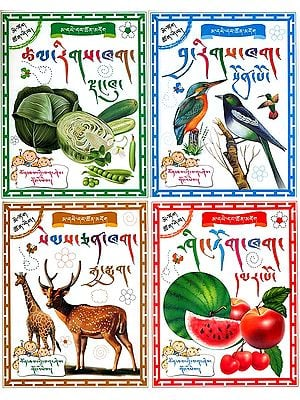Learn Tibetan Alphabets Through Picture (Set of 4 Books)