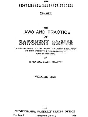 The Laws and Practice of Sanskrit Drama (An Old and Rare Book)