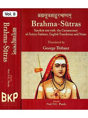 Brahma - Sutras in Two Volumes (Sanskrit Text with The Commentary of Acarya Sankara, English Translation and Notes)