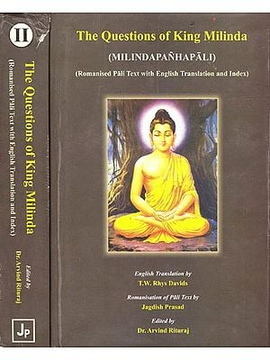 The Questions of King Milinda: Milindapanhapali (Romanised Pali Text with English Translation and Index)  (Set of 2 Volumes)