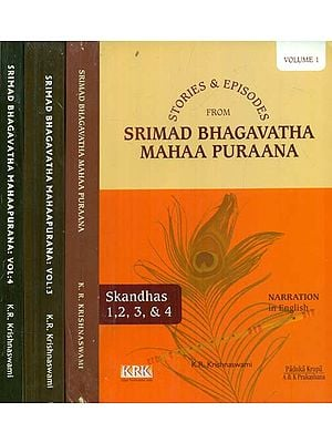 Stories and Episodes from Srimad Bhagavatha Maha Purana (Set of 4 Volumes)