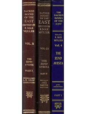 The Zend- Avesta  (Set of 3 Volumes)