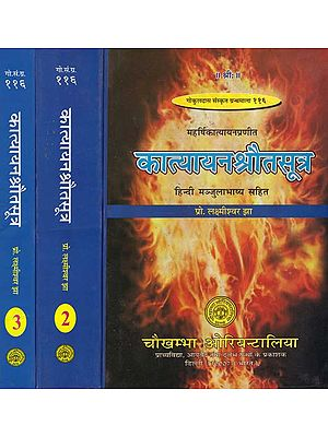 कात्‍यायन श्रौत सूत्र: Katyayana Shrauta Sutras with Detailed Explanation in Hindi (Set of 3 Volumes)