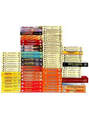 Complete 18 Puranas (Set of 86 Books): Sanskrit Text and English Translation