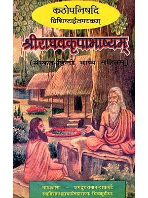कठोपनिषदि विशिष्टाद्वैतपरकम् श्रीराघवकृपाभाष्यम्- Kathopanishad Vishishtadvaitaparakam Sriraghavakripabhashyam (An Old And Rare Book)