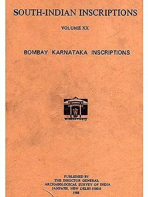South-Indian Inscriptions Volume XX (Bombay Karnataka  Inscriptions)