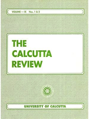 The Calcutta Review (Volume- IX Nos. 1 and 2)