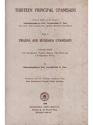 Thirteen Principal Upanisads- Prasna and Mundaka Upanisads with Sankara Bhasya (An Old and Rare Book)