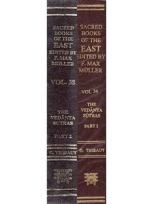 The Vedanta-Sutras - With the Commentary of Sankaracarya (Set of 2 Parts)