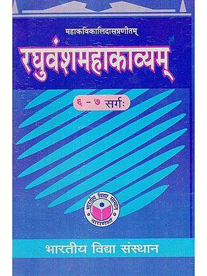 रघुवंशमहाकाव्यम् - Raghuvansha Mahakavyam (Cantos 6-7)
