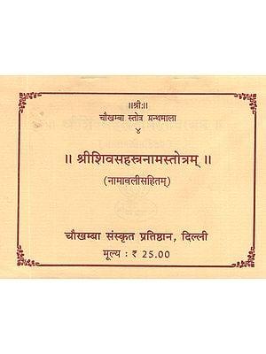 श्रीशिवसहस्त्रनामस्तोत्रम्: Sri Shiva Sahstra Nama Stotram