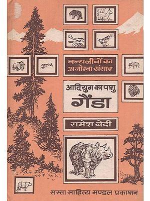 आदियुग का पशु गेंडा: Early Age Animal- Rhinocerous (An old Book)