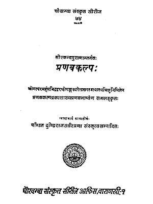 प्रणवकल्प: - Pranavakalpa