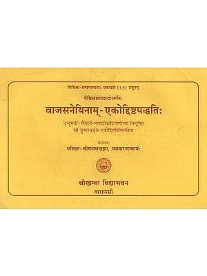 वाजसनेयिनाम्-एकोद्दिष्टपद्धति : Ekodisht Paddhati According to Vajasneyi Samhita