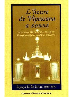 The Clock of Vissapana has Struck (French)