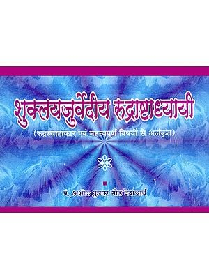 शुक्ल यजुर्वेदीय रुद्राष्टाध्यायी: Shukla Yajurveda Rudrashtadhyayi (Rudra Swahakar and Decorated with Important Subjects)