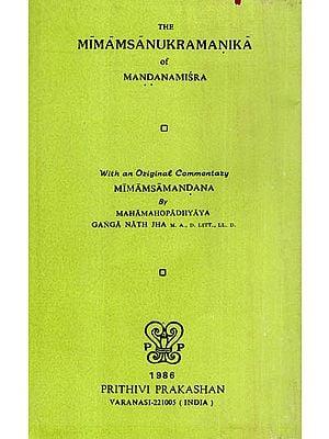 The Mimamsa Anukramanika of Mandana Mishra