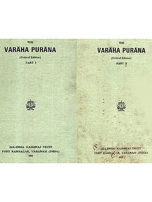 The Varaha Purana- A Critical Edition in a Set of 2 Books (Old and Rare Books)