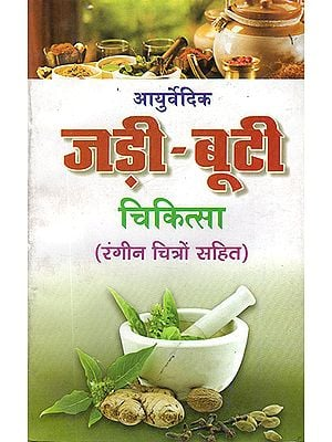 आयुर्वेदिक जड़ी बूटी चिकित्सा: Ayurvedic Herb Medicines (With Colored Illustrations)