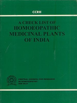 A Check List of Homoeopathic Medicinal Plants of India