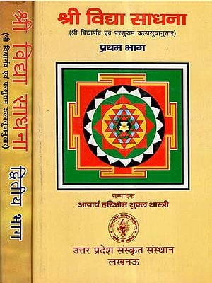 श्री विद्या साधना (श्री विद्यार्णव एवं परशुराम कल्पसूत्रानुसार)- Sri Vidya Sadhna- According to Shri Vidya And Parashuram Kalpasutra (Set Of 2 Volumes)