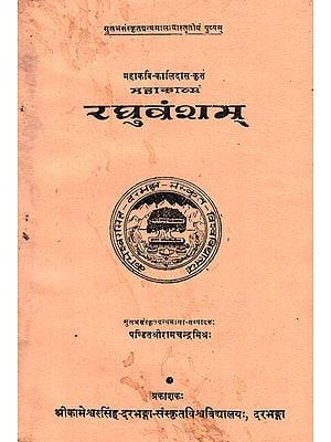 रघुवंशम्- Raghuvansam (An Old and Rare Book)