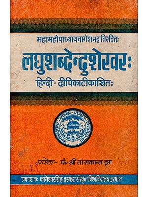लघुशब्देन्दुशेखर:- Laghu Shabdendu Shekhar (An Old and Rare Book)