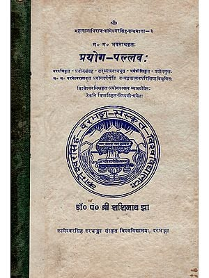 प्रयोग- पल्लव:- Prayog Pallav (An Old and Rare Book)